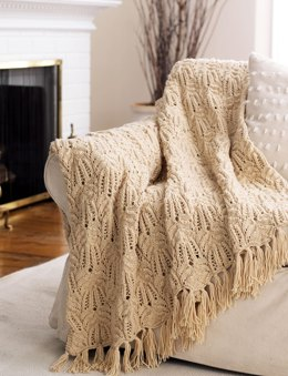 Lace and Cable Afghan in Bernat Super Value