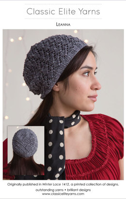 Leanna Hat in Classic Elite Yarns Ava - Downloadable PDF