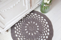 Hoooked Crochet Round Rug Kit in RibbonXL