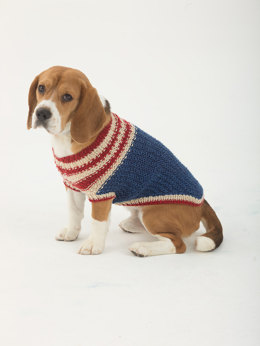 The Patriot Dog Sweater in Lion Brand Heartland - L32376