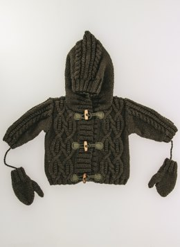Babies Jacket and Mittens in Bergere de France Sport - 60437-11 - Downloadable PDF