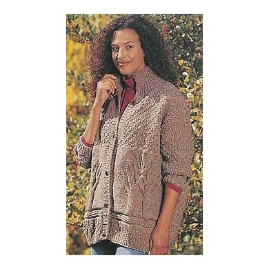 Tree of Life Sweater in Lion Brand Wool-Ease - 749