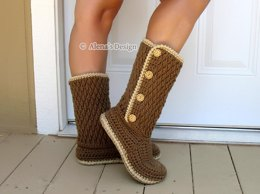 Buttoned Women's Boots