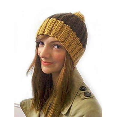 Knitting Pattern Ribbed Bobble Hat : Ribbed Bobble Hat in Debbie Bliss Blue Faced Leicester ...