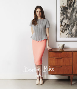 Lace Panel Top in Debbie Bliss Mia - DB017 - Leaflet
