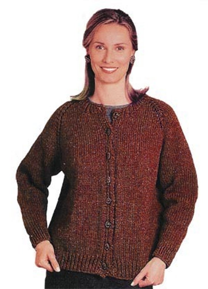 Top-Down Cardigan in Lion Brand Wool-Ease Chunky - 1194 ...