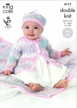 Coat, Beret And Blanket in King Cole Splash DK - 4117