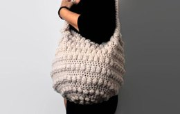 Fast and Easy Bobbles Slouchy Bag