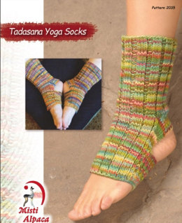 Tadasana Yoga Socks in Misti Alpaca Pima Silk Hand Paint - 2055
