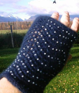 Beaded Muffatees in Windy Valley Muskox Qiviut