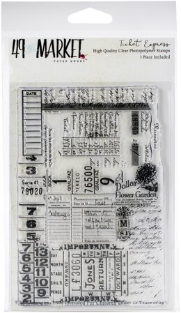 """49 And Market Clear Stamps 4""""X6"""" - Ticket Express"""