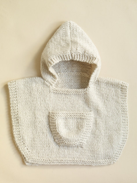 Hooded Baby Poncho In Lion Brand Jiffy 70361ad