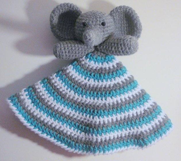 Elephant Blanket Knitting Pattern Free : Elephant Lovey Crochet pattern by Heather Sonnenberg Crochet Patterns Lov...