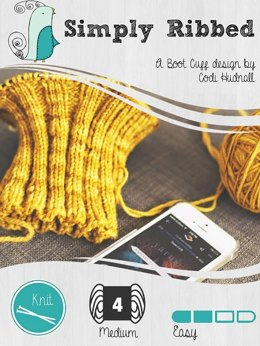 Simple Ribbed Calf Boot Cuff Liners