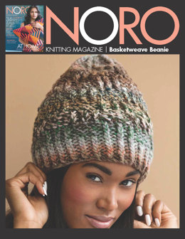 Basketweave Beanie in Noro Hakone - 13241 - Downloadable PDF