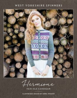Hermione Fair Isle Cardigan in West Yorkshire Spinners Illustrious - DBP0027 - Downloadable PDF