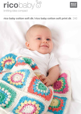 Baby Blankets in Rico Baby Cotton Soft DK and Cotton Soft Print DK - 246