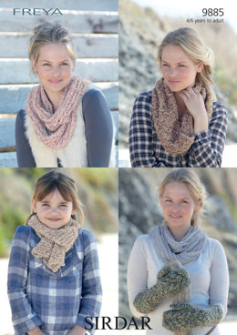 Scarves, Cowls and Mittens in Sirdar Freya - 9885