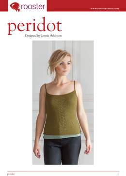 Peridot Camisole in Rooster Delightful Lace
