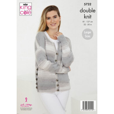 Ladies Sweater and Cardigan in King Cole Beaches DK - 5732 - Leaflet