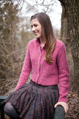 Juli Cardigan in Berroco Blackstone Tweed - PDF336-12