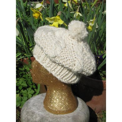 Superfast Cable Stitch Tam Oshanter Hat Knitting Pattern By