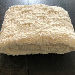 Easy & Quick Chunky Basketweave Baby Blanket
