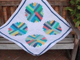 Portholes Log Cabin Blanket