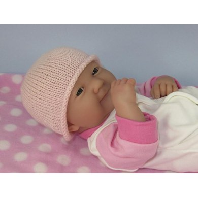 Just For Preemies - Premature Baby Very Easy 4 Ply Beanie Hat