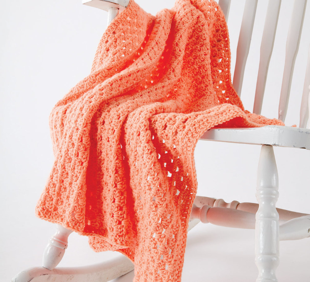 Easy Peasy Crochet Baby Blanket in Caron One Pound