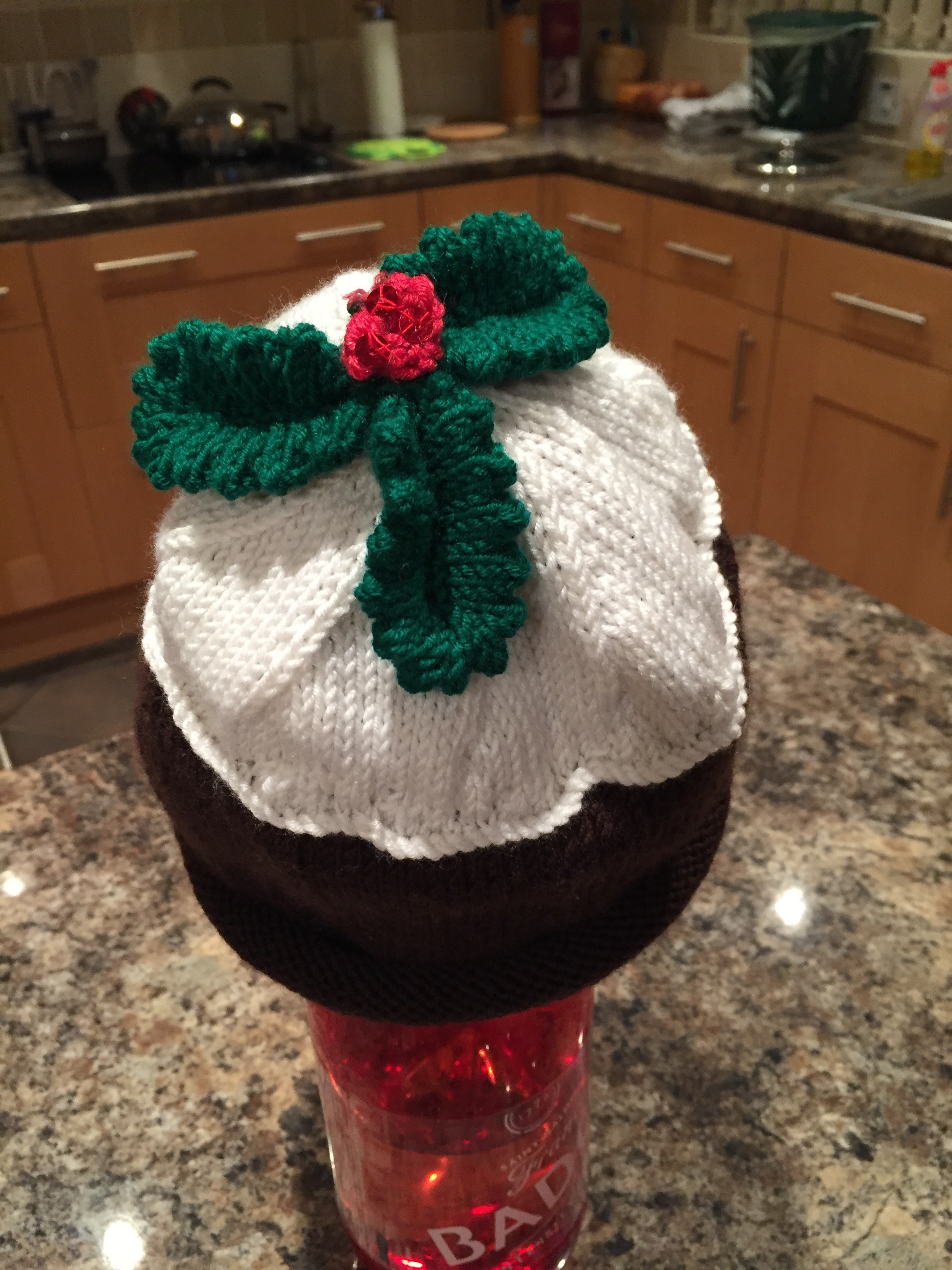 Knitting Pattern For Christmas Pudding Jumper : Christmas Pudding hat knitting project by Fiona Psaila LoveKnitting