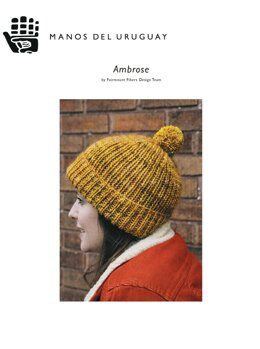 Hat Ambrose in Manos del Uruguay Cabrito & Alegria Grande - F114 - Downloadable PDF