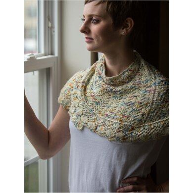 Belma Shawl in Zen Yarn Garden Serenity Silk Single - Downloadable PDF
