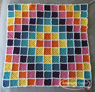 Candy Cloud Burst Baby Afghan