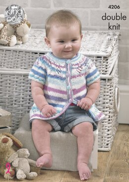 Baby Set in King Cole DK - 4206 - Downloadable PDF
