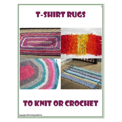 T-shirt rugs to knit or crochet