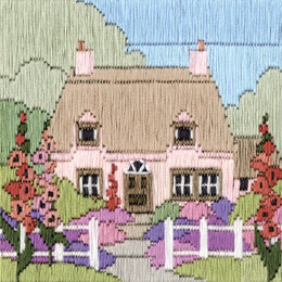 Derwentwater Designs Hollyhock Cottage Long Stitch Kit