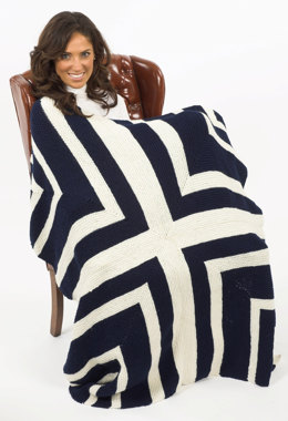 Stadium Blanket in Plymouth Encore Worsted - F220