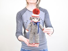 Spunky The Little Sock Monkey Crochet Pattern