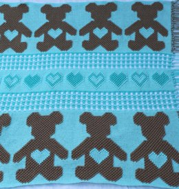 Gingham Teddy Bear Afghan
