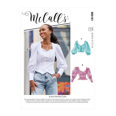 McCall's Misses' Tops M8181 - Sewing Pattern