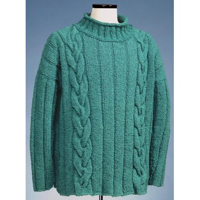 Cable and Wide Rib Rollneck Pullover #121