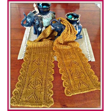 Thailand Memories Knit Lace Scarf