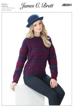 Sweater in James C Brett Marble DK - JB291