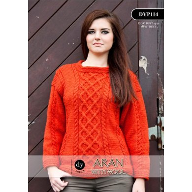 Sweater in DY Choice Aran With Wool - DYP114