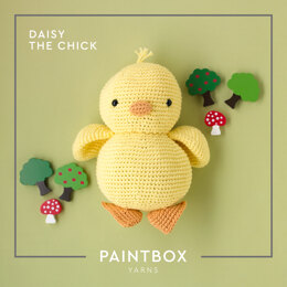 Daisy The Chick - Free Toy Crochet Pattern For Kids in Paintbox Yarns Cotton Aran by Paintbox Yarns
