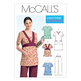 McCall's Misses'/Women's Scrubs Tops, Dress and Pants M5895 - Sewing Pattern