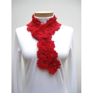 Queen Anne's Lace Scarf - PA-124b (crochet)