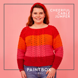 Cheerful Cable Jumper - Free Sweater Crochet Pattern For Women in Paintbox Yarns Cotton Aran by Paintbox Yarns