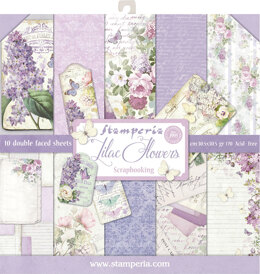 "Stamperia Intl Stamperia Double-Sided Paper Pad 12""X12"" 10/Pkg - Lilac, 10 Designs/1 Each"